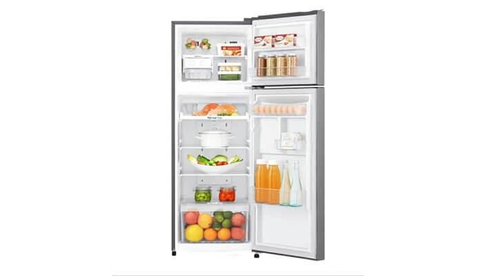 kekurangan kelebihan harga dan spesifikasi kulkas lg gn-b185sqbb 2 pintu