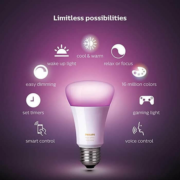 kekurangan kelebihan harga dan spesifikasi lampu philips hue 10w a60 e27 single bulb voice command